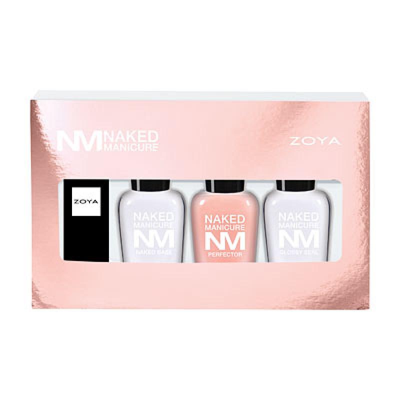 Подарочный набор Naked Manicure (мини-средства (7,5 мл) и помада Wren